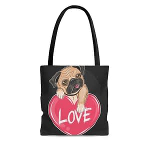 dog love Tote Bag