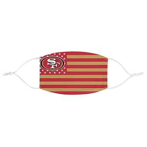 49ers Face Mask, USA Flag Fa