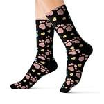 dog foot print Socks