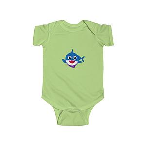 blue cute baby shark  Bodysu...