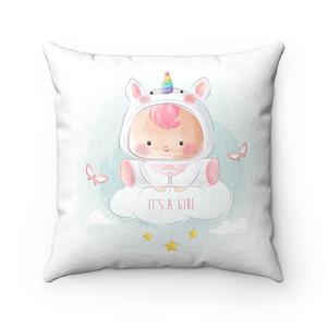 cute baby girl in unicorn Pi...