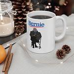 Bernie Sanders at the Biden Inauguration 2021 Mug 11oz