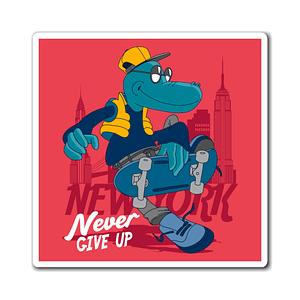 dinosaur skateboarding Magne...