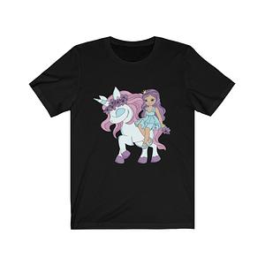 Cute Girl Unicorn T-Shirt