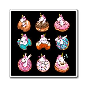 cute unicorn and donuts Magn...